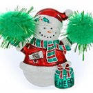 Cheerleader Snowman Pendant or Pin