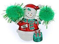 Cheerleader Snowman Pendant or Pin