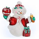 Teacher Snowman Pendant or Pin