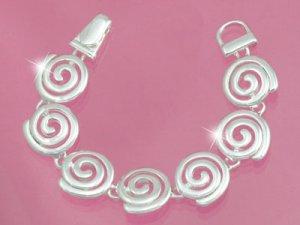 Silver Spirals Magnetic Bracelet