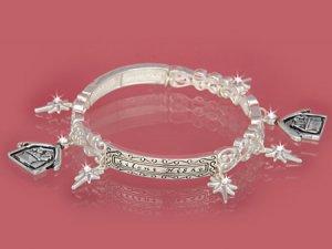 "Christmas - Silver ""SILENT NIGHT"" Bracelet"