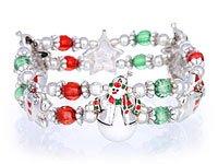 Double Stretch Snowman Bracelet