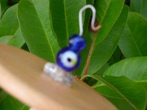 Colbalt Blue Silk Flicker Top Whorl Drop Spindle