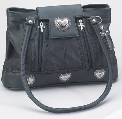 Embassy Large Black Solid Genuine Leather Purse