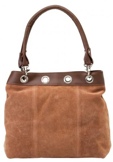 Embassy Brown Solid Genuine Suede Leather Purse.