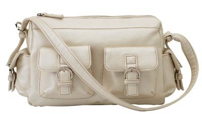 Embassy Pearl White Faux Leather Purse