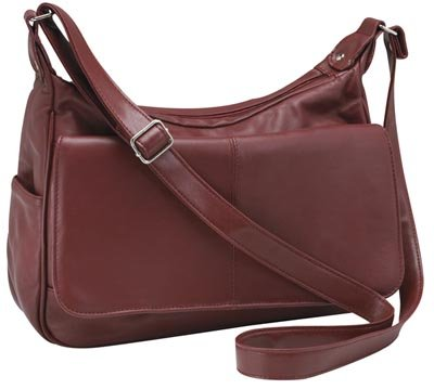 Embassy Genuine Leather Burgundy Purse.