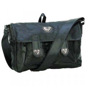 Embassy� Italian Stone� Design Genuine Leather Black Purse