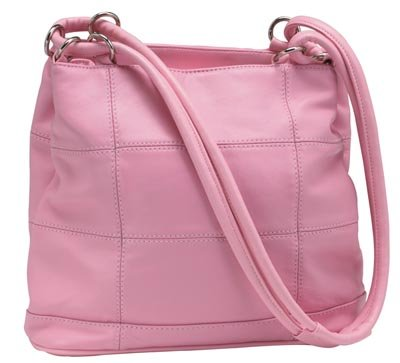 Embassy Solid Genuine Leather Pink Purse