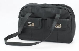 Embassy Black Genuine Leather Purse