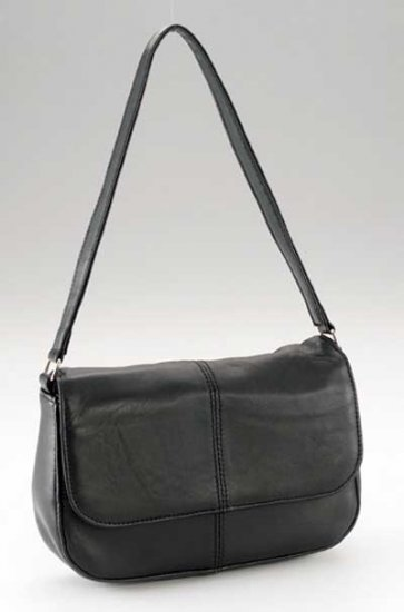 Maxam Brand Solid Genuine Lambskin Leather Shoulder Bag.