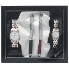 Navarre™ Men's and Ladies' 2 Tone Watch and Ball Point Pen Set.
