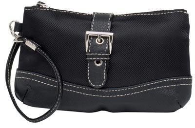 Embassy Black Wristlet Bag.