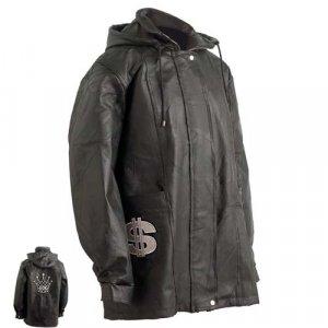 "Embassy� Hand-Sewn Pebble Grain Genuine Leather ""King Logo"" Jacket."