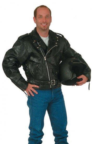 Diamond Plate Rock Design Genuine Buffalo Leather Motorcycle Jacket.