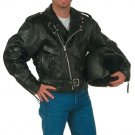 Diamond Plate Rock Design Genuine Buffalo Leather Motorcycle Jacket.
