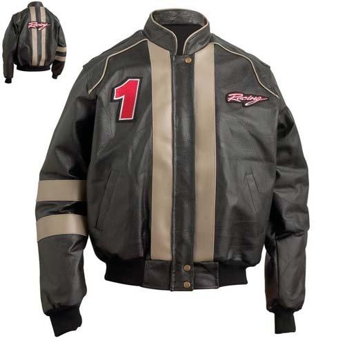 Diamond Plate� Hand-Sewn Pebble Grain Leather Men�s Motorcycle Jacket.