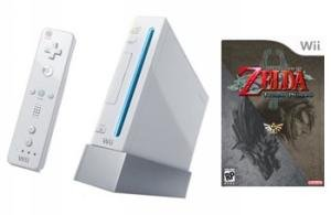 Nintendo Wii Console + The Legend Of Zelda: Twilight Princess Bundle