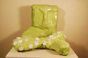 Large Green Abstract Figurative Sculpture.
