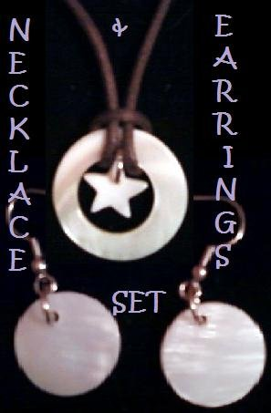 Star Necklace with coordinating Earrings.