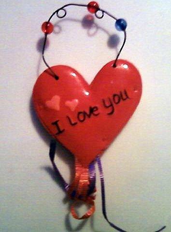 I Love You Heart Tag
