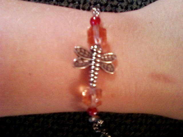 Beaded Dragonfly Bracelet.