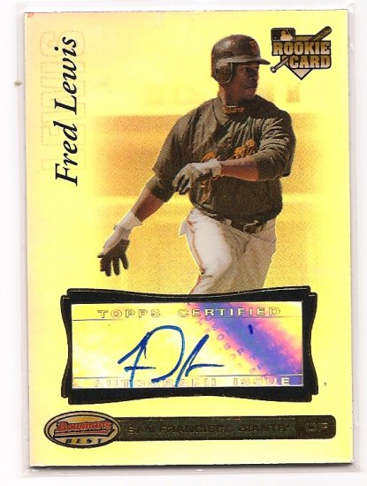 2007 Bowman Best Fred Lewis RC Auto