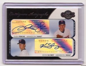 2008 Topps Co-Signers Glen Perkins/Kevin Slowey Dual Auto