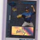 2008 Topps Co-Signers Willie Collazo Rc Auto Blue Parallel