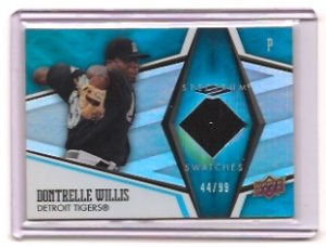 2008 UD Spectrum Swatches Dontrelle Willis Jersey /99