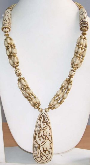 Bone Beaded Necklace