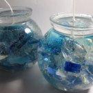 Sea Glass Globes Gel Candles