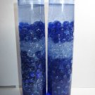 Blue Glass Pillar Gel Candles