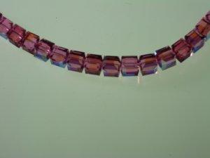 Rose Arora Borealis Swarovski Crystal Necklace