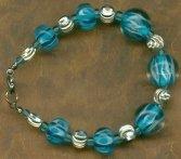 Ocean Blue Lampwork Bracelet