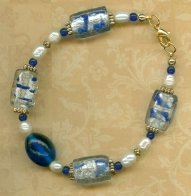 Royal Blue Foil Bracelet