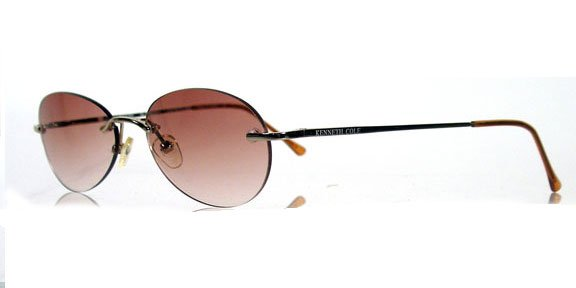 KENNETH COLE 4193 Gold / Brown Rimless Sunglasses