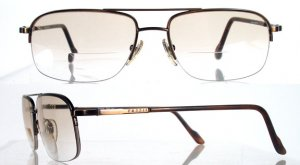 FOSSIL Norman Antique Copper Semi-Rimless Eyeglass Frames