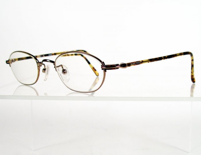 NINE WEST 14 Gold / Tortoise Eyeglass Frames