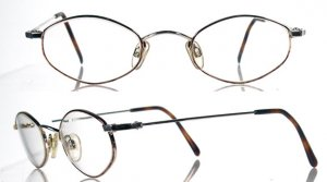"CAPEZIO ""Paulina"" Gold and Tortoise Eyeglass Frames"