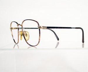 TERRI BROGAN 8911 Tortoise and Gold Eyeglass Frames