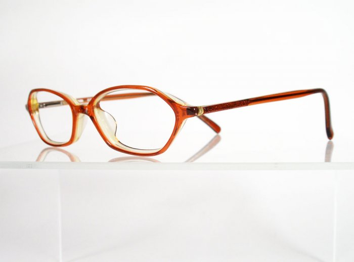 dakota d73 burnt orange eyeglass frames