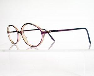 SAFILO 5008 Purple Oval Eyeglass Frames