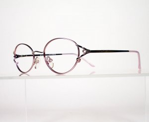 GIANNI PO 1013 Pink and Silver Eyeglass Frames