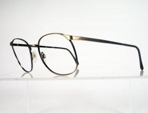 LUXOTTICA 438 Antique Bronze Hornrim Style Eyeglass Frames