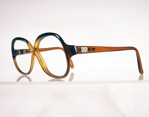 GEOFFREY BEENE Golden Brown Round Eyeglass Frames