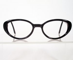 CAPEZIO 102 Black Cateye Eyeglass Frames