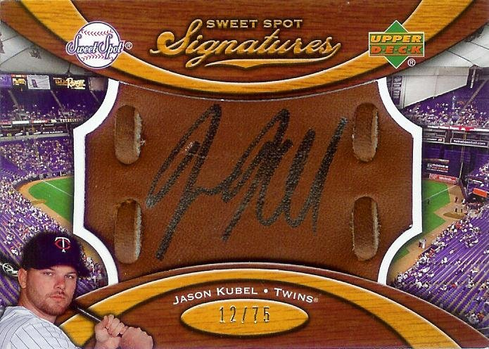 2007 Sweet Spot Jason Kubel auto glove 12/75