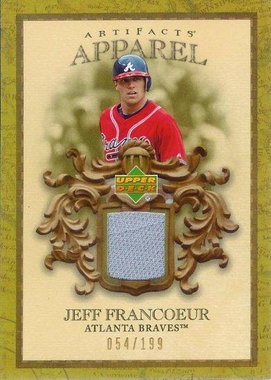 2007 Upper Deck Artifacts Jeff Francoeur gu 054/199