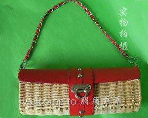 Straw Tote Bag Beading & shells handbag